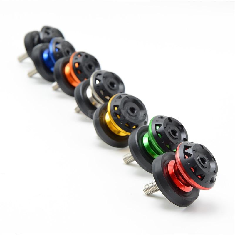 Accesorios de la motocicleta DEL CNC De Aluminio tornillos Basculante Carretes d