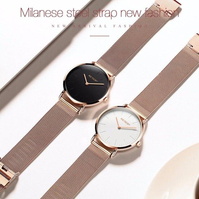ESOPO orologi Delle Donne di Modo femminile impermeabile orologio Milan acciaio inox in oro Rosa orologio con braccialetto Delle Signore montre femme vigilanza delle donne