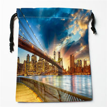 New New York City printed storage bag 27x35cm Satin drawstring bags Compression Type Bags Customize your image gifts