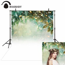 Allenjoy photography background glitter Bokeh Pine Snow Winter Theme backdrop photo studio camera fotografica