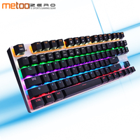 METOO ZERO 104/87 K Gaming Mechanical Keyboard Wired USB Metal Panel Floating Backlight with Gaming for Dota 2 PUBG Overwatch