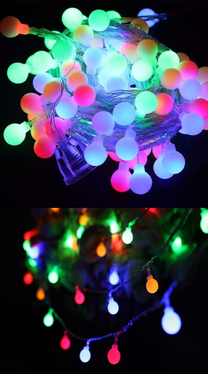 Novelty Outdoor Lights Part - 39: Novelty Outdoor Lighting LED Ball String Lamps 10m 100leds Christmas Lights  Fairy Wedding Garden Pendant Garland