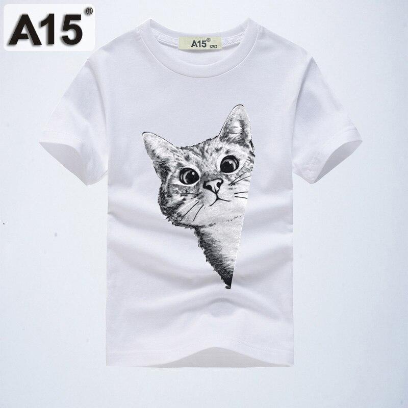 Jungen Kleidung A15 Jungen Lustige T-shirt Katze 3d Kinder Weiß T-shirt Für Teenager Mädchen Kleidung Tops Tees 2019 Sommer T Shirt Alter 6 8 10 12 14 Jahre Mutter & Kinder