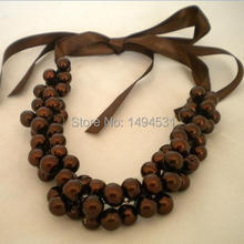 Wholesale Pearl Jewelry Handmade Bridesmaids Wedding Pearl Chocolate Necklace Brides Gifts Special Occasion – XZN150