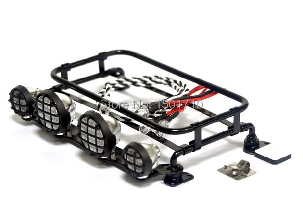 roof rack with led lamp set tamiya cc01 f350 d90 rc4wd pajero small style rc car accessory decoration oem luggage tray frame