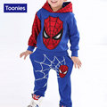 2016 Autumn New Kids Clothes Spiderman Costume Fashion Sport Suit 2 Piece Set Hoodies+Trousers Tracksuit Kids Boys Clothing Set