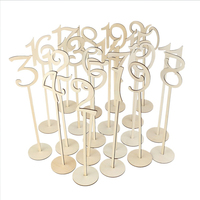 10 Pcs/set Hollow Digital Place Holder 1 20/21 40 Table Number Figure Card Digital Seat Decoration Wooden Wedding Party Supplier