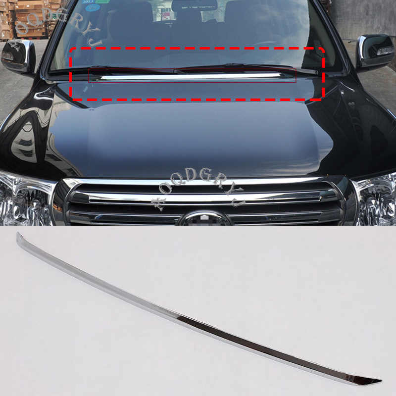 Auto Styling 1pcs Voor Toyota Land Cruiser LC200 2008-2019 ABS Chrome Front Motorkap Molding Trim Strip