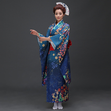 Hot Sale Fashion Women Kimono Yukata Haori With Obi Japanese Style Evening Party Dress Asian Clothing Flower One Size HW043