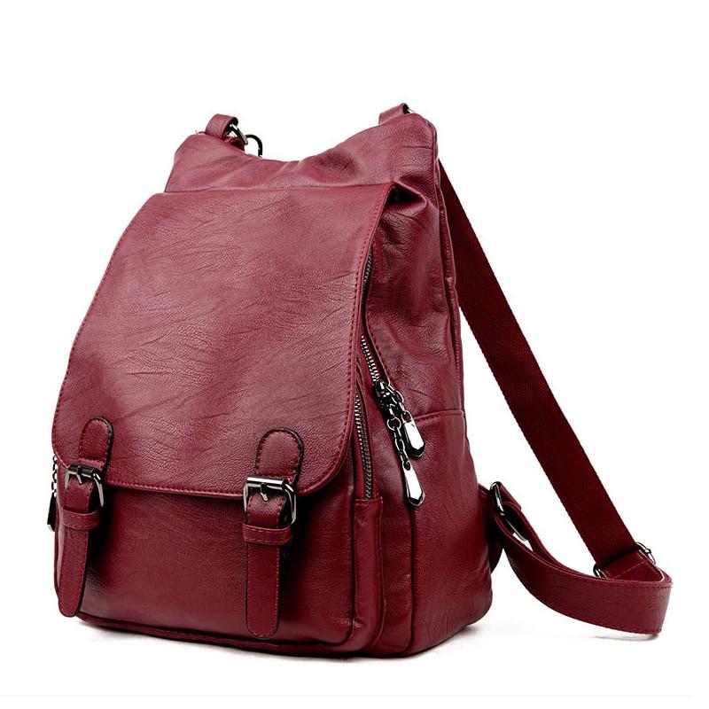 цена на High Quality Women Bag College Wind School Bag Backpack Women Backpacks Leather Female Travel Shoulder Bag Backpack Girl Mochila