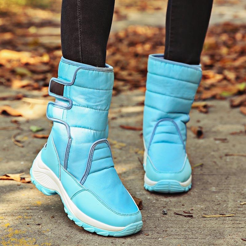 100% QualitäT Frauen Winter Stiefel 2018 Frauen Schnee Stiefel Plattform Gummi Stiefeletten Frauen Hohe Warme Pelz Plüsch Wasserdichte Stiefel Frauen Schuhe Und Ein Langes Leben Haben.