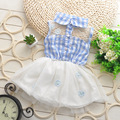 Жаркое лето новорожденных девочек кружева dress children dress дети милые мода довольно красивый ребенок завеса платья сарафан