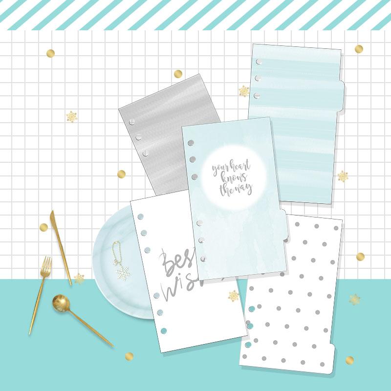 2019 Ny Dokibook Notebook Planner Tillbehör Snowflake Series - Block och anteckningsböcker - Foto 2