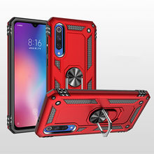 Luxury Shockproof Soft Case Xiomi mi 9 Silicone Bumper Cover Case For Xiaomi mi 9 SE Hard Armor Metal Holder Ring Mi9 Phone Case(China)