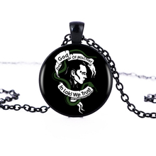 1pcs/lot 2017 Fashion Loki God Of Mischief Logo Pendant Necklace Art Handmade Resin Black Chain Necklace Women Jewelry HZ1