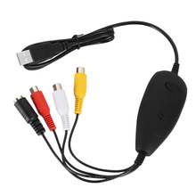USB 2.0 Video Capture DVD Converter Maker Recorder Convert Audio Analog Videos to Digital Format Support Windows 7 8 10 LCC