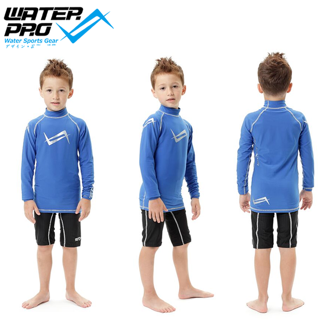 Water Pro WPK Rashguard Kid's Warm Guard WPK Rashguard for Watersports UPF 50 UV Protection