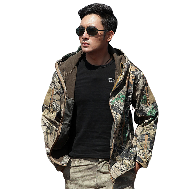 Mens Military Tactical Camouflage Softshell Casual Jacken Army Bomber - Herrenbekleidung