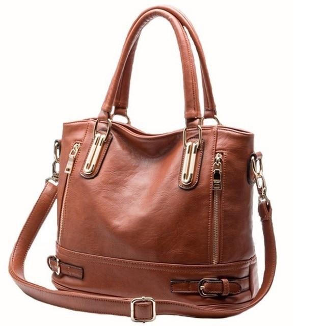 Multi-Zip Leather Bag