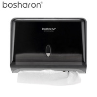 Hand Paper Towel Dispenser Z Folding Wall Mount ABS Plastic Tissue Box Holder For Sheet Paper Kitchen Accessories Storage