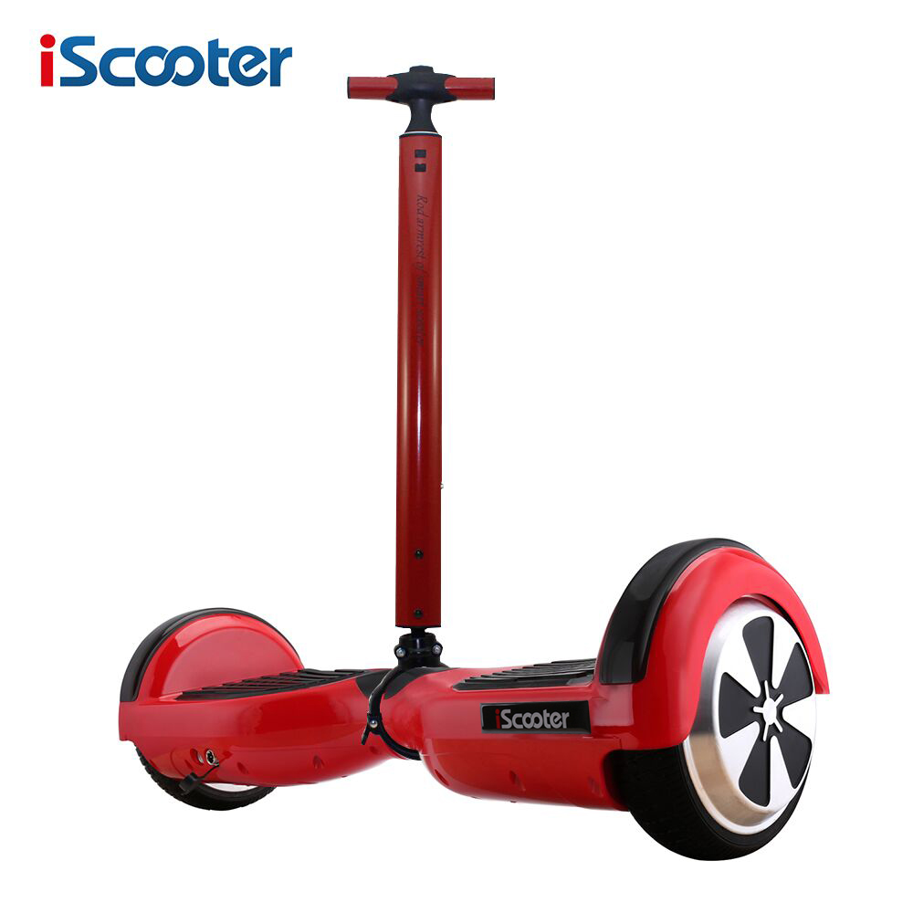 IScooter 6.5Inch Hoverboard Two Wheels Self Balance Scooter Hover Board With Handle bar or Silicone Case UL Certificated app controls hoverboard new upgrade two wheels hover board 6 5 inch mini safety smart balance electric scooter skateboard