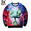 New hoodies men 2016  tops clothes funny print big eyes animals red lightning printing 3d sweatshirts