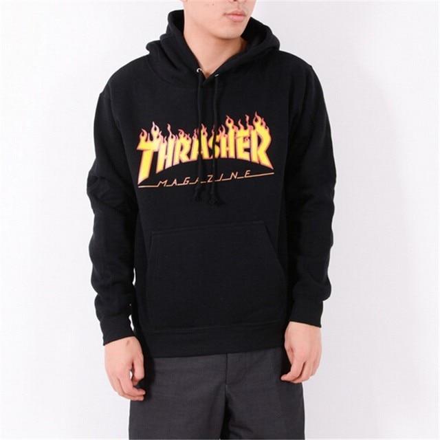 Men Streetwear Tide brand Trasher Hoodie Tracksuit Moletom Skate Sudaderas Mens hoodies sweatshirt skateboard thrasher jumper
