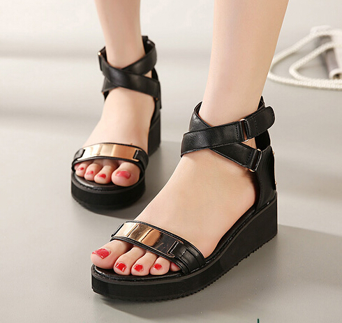 low chunky heels fashion cut outs belt buckle 2014 ladies Ankle ...