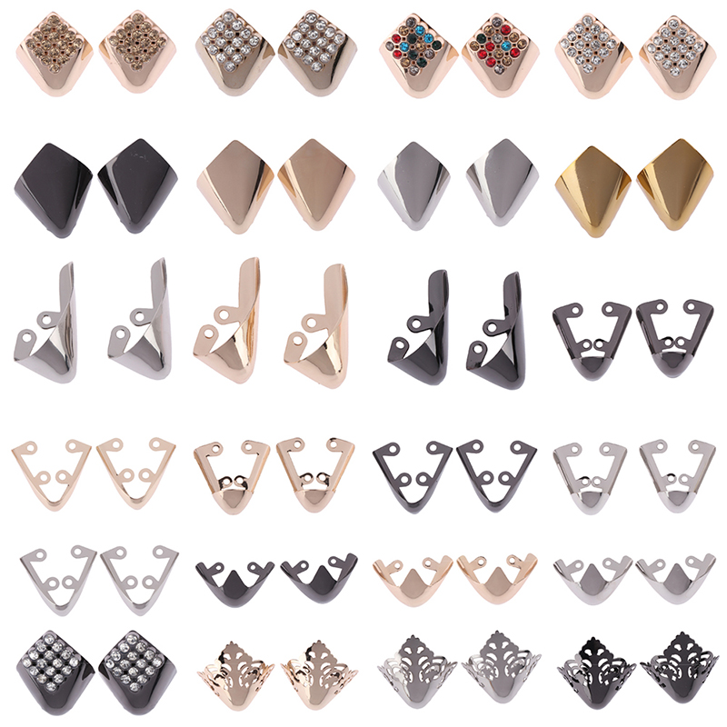 1Pair Shoes Toe Protection Fashion Metal Material Shoes Clips for Decorations High Heels Shoe Broken Reapair Accessories in Shoe Decorations from Shoes