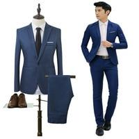 (Jacket+Pant) Men Blazer Suits High Quality Cotton Slim Fit Men Suit Terno Masculino Blazers Male Jacket, Suit Blazer