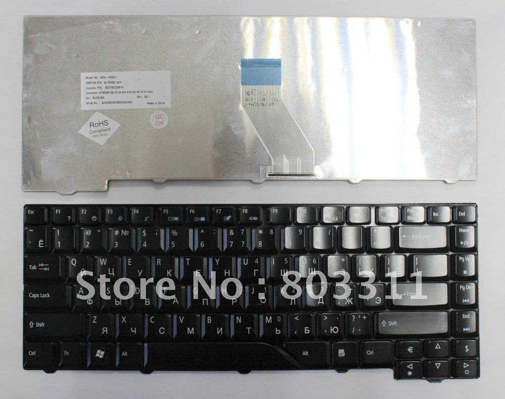 Free shipping and brand new orginal laptop keyboards for <font><b>Acer</b></font> <font><b>Aspire</b></font> 4520 4710 4720 <font><b>4920</b></font> 5220 5310 5520 5710 5720 5920 5930 6920 image