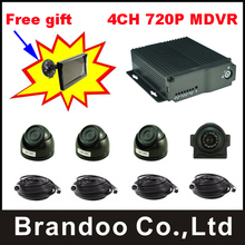 4CH 720P mobile DVR Kit,for bus,car,taxi,truck use,free shipping.