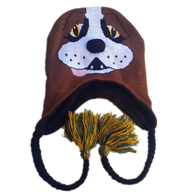 New Animal Brown Bernie Dog Doggie Costume Beanies Halloween Party Cute Lovely Pup Puppy Winter Warmer Hats Cap roomble подушка mickey doggie