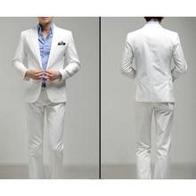 New Top Fashion Flat Cotton Terno New Style Men's Clothing Slim Suit Wedding Suits Groom Tuxedos Men Custom (jacket+pants)