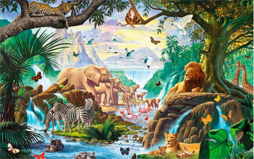 Compare prices on jungle animal fabric online shopping for Classic jungle house for small animals