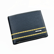 Business Men Wallet Credit Card Holders Wallet  Coin Purses PU Leather Three folding Thin Wallet Male Card Bag Short Wallets