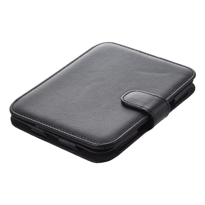 Leather Case for Barnes and Noble Nook Simple Touch with GlowLight , Black