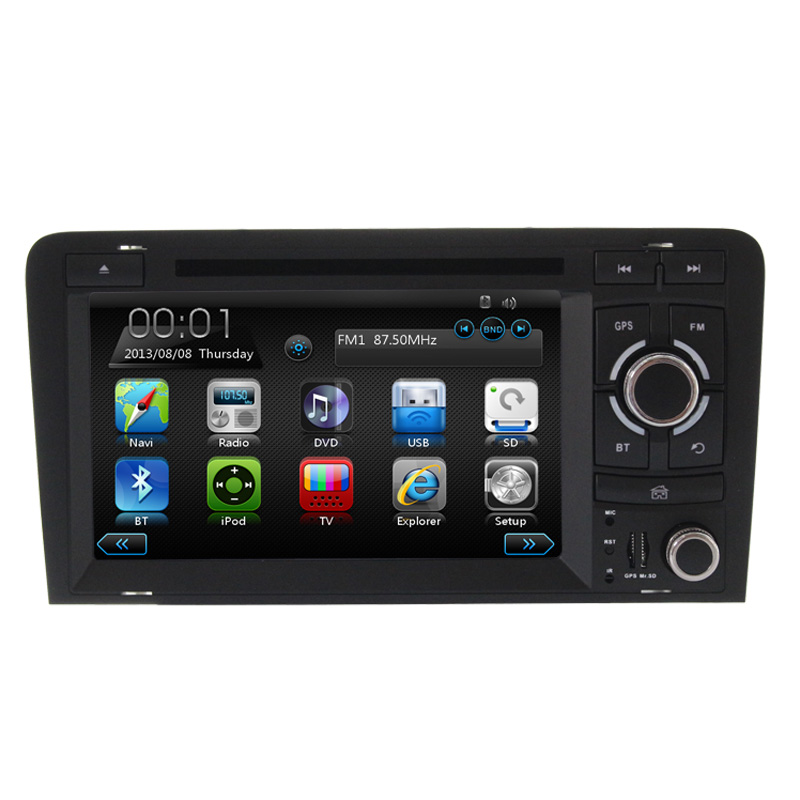 special car DVD for Aud iA3 with navigation Digital touch screen car multimedia Steering Wheel Control