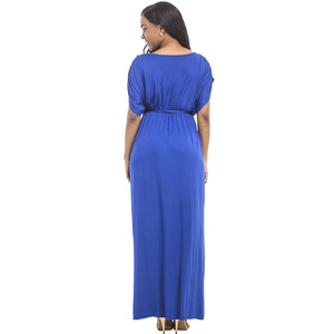 Image 3 - Maternity Evening Dress For Pregnant Women Clothes Long Loose Deep V neck Lady Pregnancy Dress Vestidos Gravidas Clothing Summer