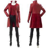 Captain America Civil War Scarlet Witch Cosplay Costume Wanda Women Girl Outfit Full Sets Boots for Halloween Carnival Party