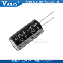 2PCS Higt quality 50V4700UF 18*35mm 4700UF 50V 18*35 Electrolytic capacitor