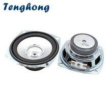 Tenghong 2 sztuk 3 Cal głośniki pełnozakresowe 4Ohm 10W 78MM kwadratowy przenośny głośnik Audio jednostka dla kina domowego głośniki DIY
