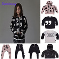 2017 new nununu children clothing boys girls skull comma T shirt sweatershirt star harem pant for boys girls baby jacket vestido