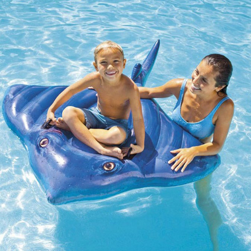 For Kids Over 3 Years Old Children Cartoon Fish Shape Swim Seat Floating Ring Inflatable Raft Float Swim Training Accessories
