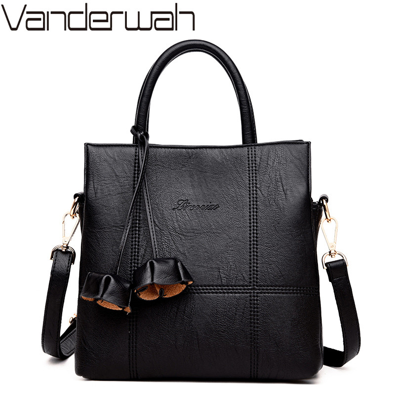 NEW Flowers Leather Luxury Handbags Women Bags Designer Women Shoulder Bag Female crossbody messenger bag Casual Tote sac a main vanderwah crocodile pattern leather luxury handbags women bags designer women shoulder bag female crossbody messenger bag sac
