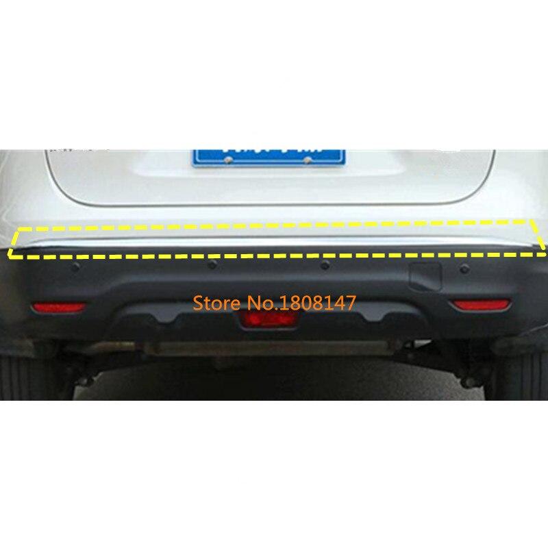 Voiture couvercle du corps protection Pare-chocs ABS Chrome garniture arrière arrière tail bas Autour 1 pcs Pour Nissan Qashqai j11 2016 2017 2018