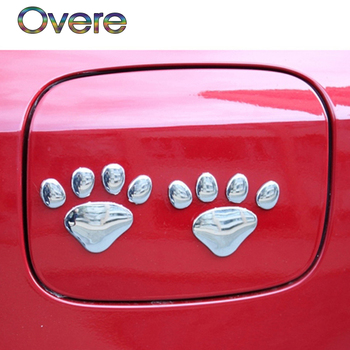 Overe 2Pcs Car Stickers 3D Metal Bear Paw Styling For BMW E60 E36 E46 E90 E39 E30 F30 F10 F20 X5 E53 E70 E87 E34 1.E92 M image