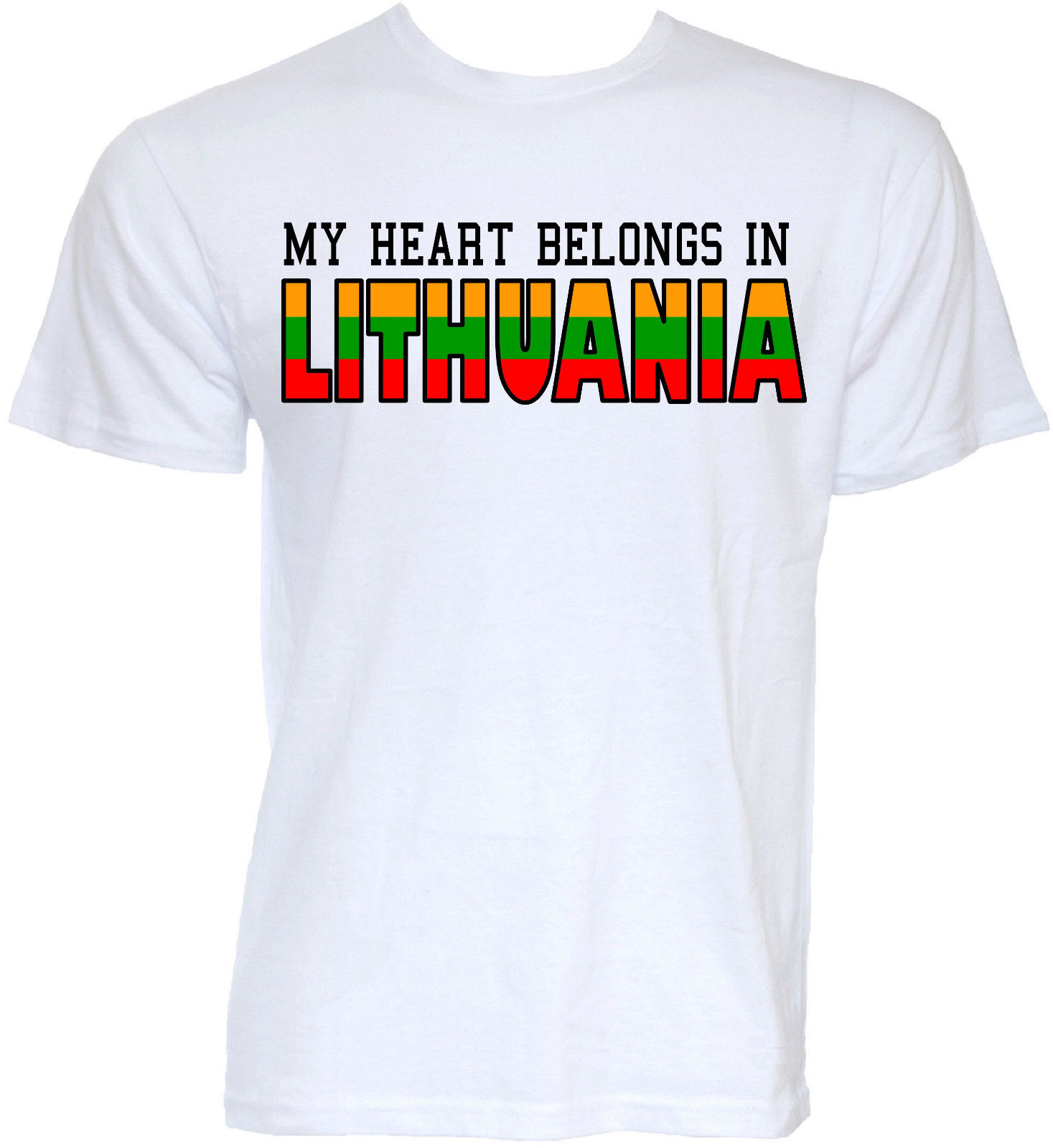 MENS FUNNY COOL NOVELTY LITHUANIAN LITHUANIA JOKE FLAG SLOGAN T-SHIRTS FUN GIFTS 2017 Fashion Short Sleeve Black T Shirt