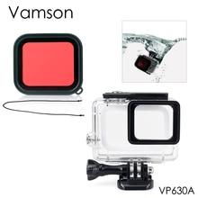 Vamson для Hero 7 6 5 водонепроницаемый 45 м подводный с базовым креплением защитный корпус для воды красный фильтр VP630A