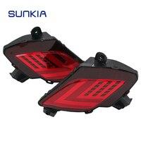 2pcs Set SUNKIA Car Styling Multi Function Rear Bumper Brake Light LED Tail Light For CX